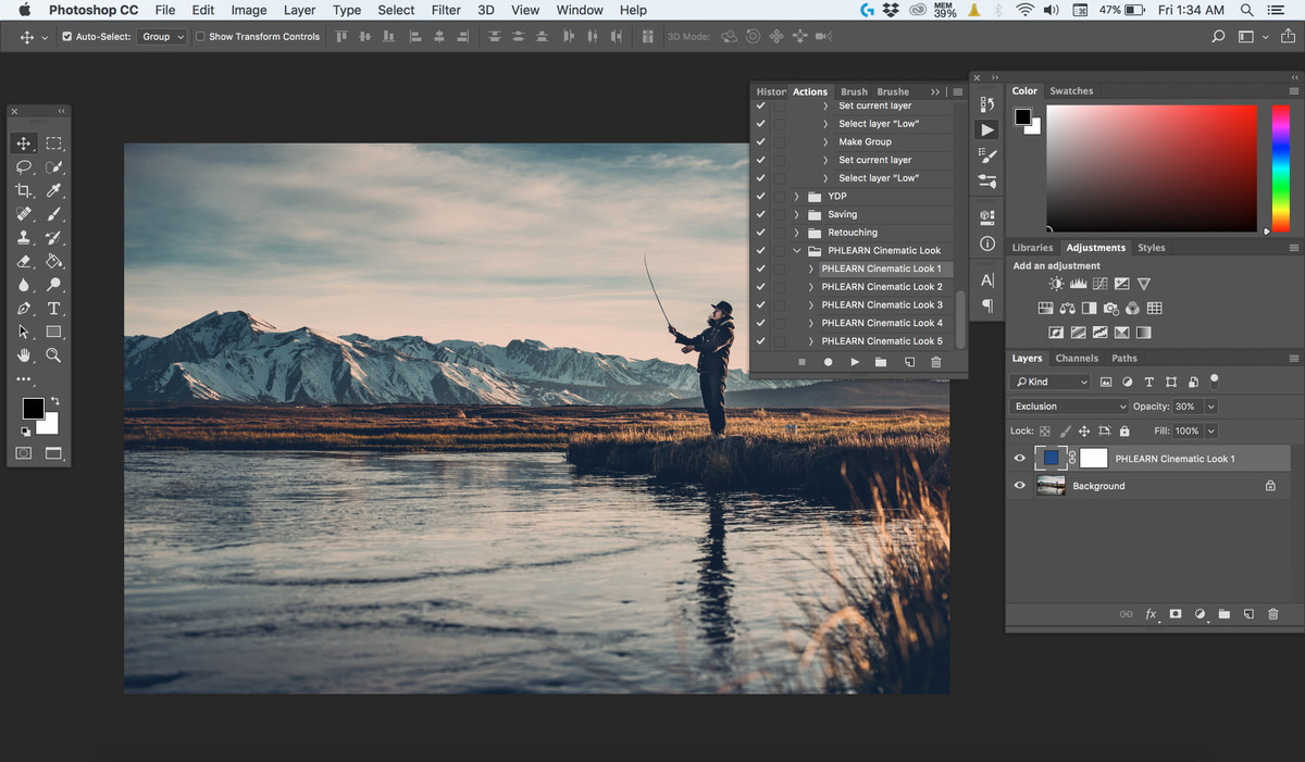 Create A Cinematic Look In Photoshop Realistic Color Film Effect