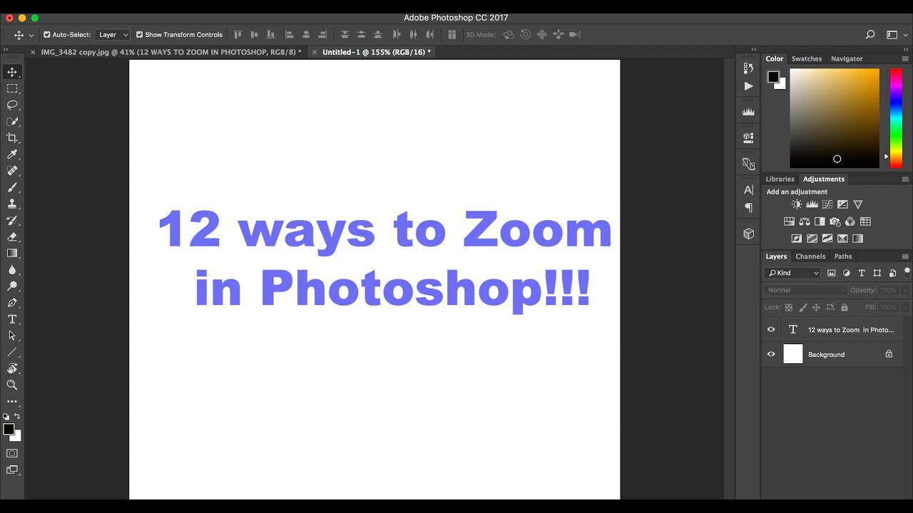 Using zoom in Photoshop - Adobe