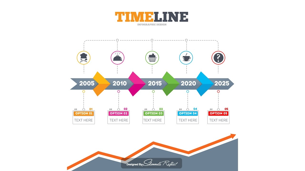 photoshop tutorial - graphic design - timeline infographic
