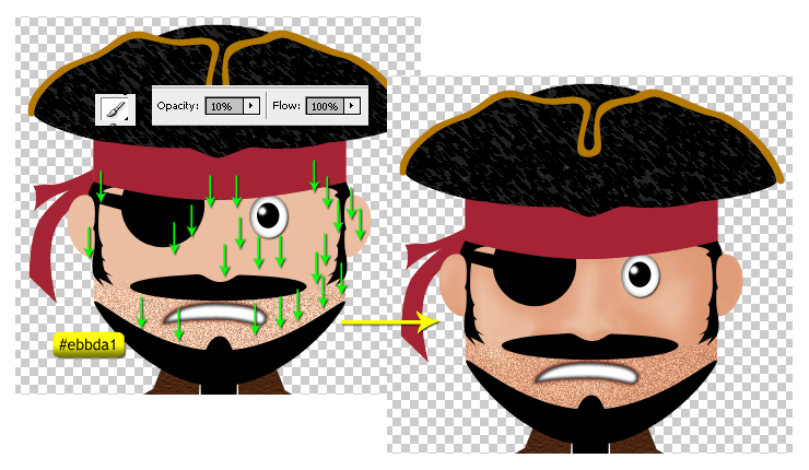 How To Draw A Cute Pirate Character In Photoshop Iphotoshoptutorials