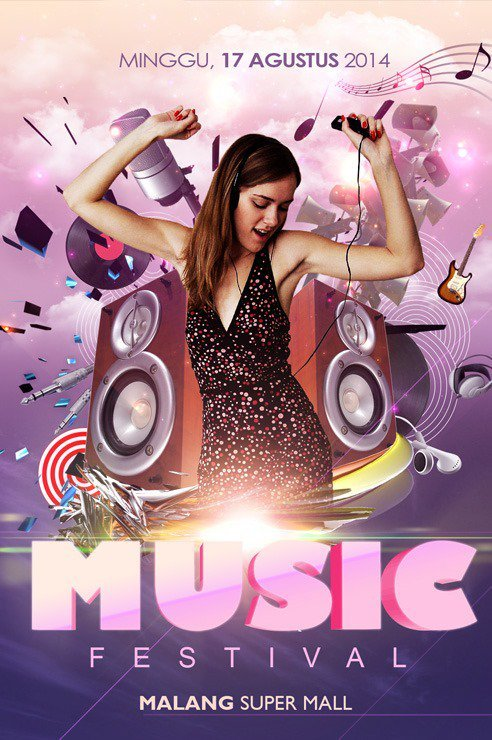 create groovy music flyer poster with photoshop and illustrator