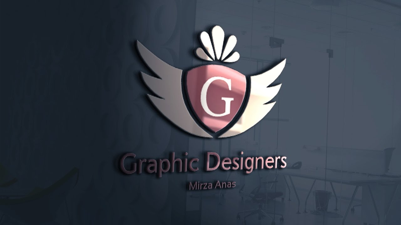 How To Use Psd Logo Mockup For Beginners Photoshop Tutorial Glass