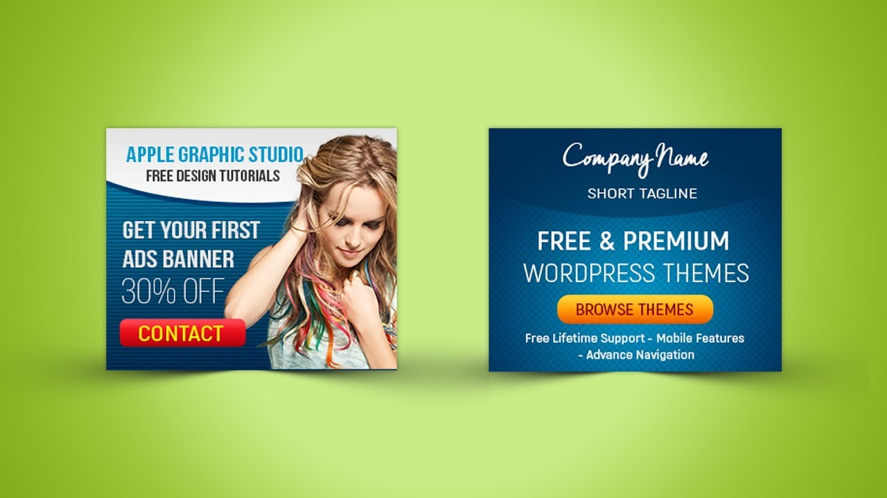 300x250 Web Banner Design Photoshop Tutorial